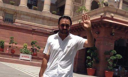 भगवंत मान को किया संसद से आउट