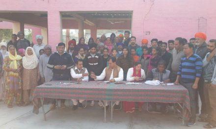 कैप्टन की  हर घर नौकरी मुहिम को लेकर चब्बेवाल में भारी उत्साह : डा. राज कुमार