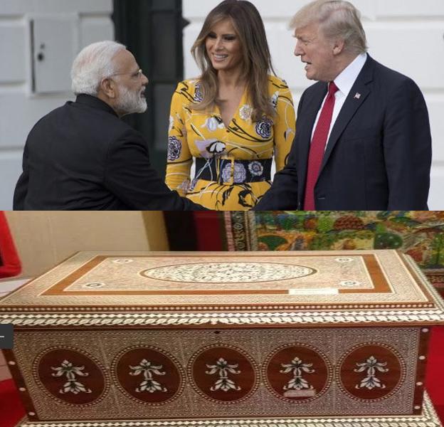 होशियारपुर में बना श्रृंगार बॉक्स तोहफे के रूप में PM मोदी ने ट्रंप और उनकी पत्नी को दिया