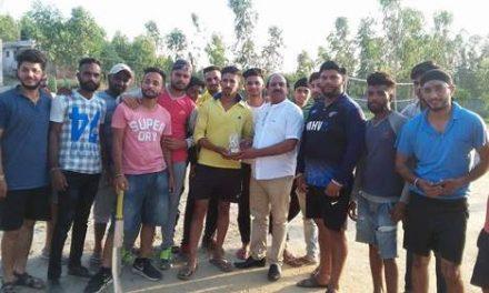 साईं खाखी शाह जी यूथ क्लब आदमवाल की तरफ से चौथा क्रिकेट टूर्नामैंट