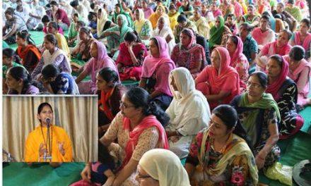 श्वेता भारती ने अपने प्रवचनों से सत्संग में संगत को किया मंत्रमुग्ध