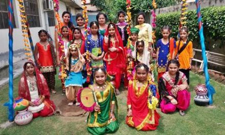 सेंट सोल्जर स्कूल में तीज का त्योहार मनाया