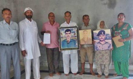 एक ईंट शहीद के नाम अभियान को आग्रह किया