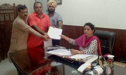 भारतीय जनता पार्टी का शिष्टमंडल ए.डी.सी. से मिला