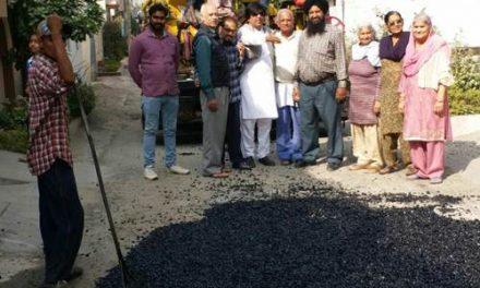 वार्ड की समस्त सडक़ों का नवनिर्माण जल्द करवाया जाएगा पूरा: पार्षद जिम्पा