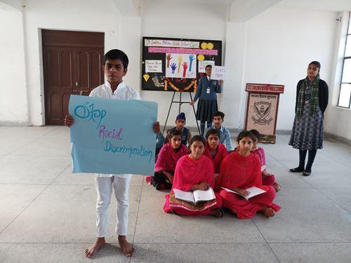 छात्रों ने नाटक के द्वारा बेटियों को शिक्षित करने का दिया संदेश