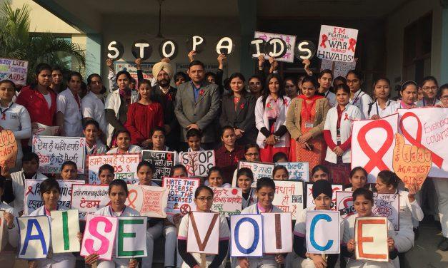 रयात बाहरा में विश्व एड्स दिवस पर जागरुकता रैली का आयोजन।