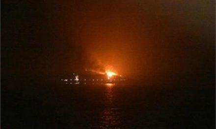 अरब सागर में मार्सक कंटेनर जहाज में लगी आग, 4 लोग लापता