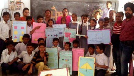मिडल स्कूल हरियाना में गणित मेले का आयोजन किया गया