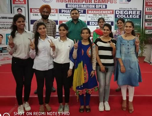 रयात बाहरा इंजीनियरिंग कालेज के 12 छात्र पीटीयू की मैरिट लिस्ट में ।