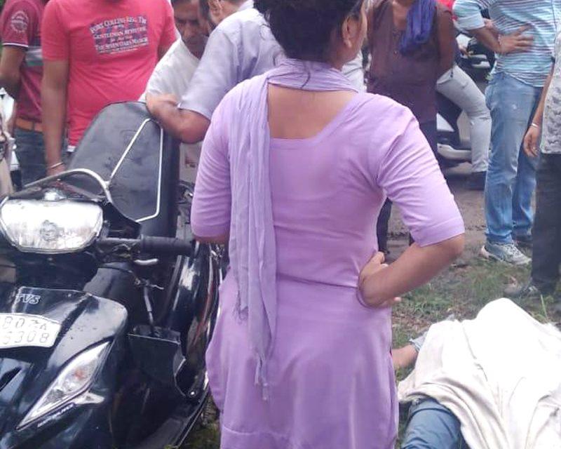 अज्ञात वाहन की टक्कर से अध्यापक की मौत