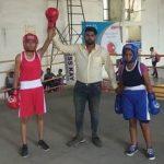 इंडोर स्टेडियम में करवाए बॉक्सिंग मुक़ाबलों में लड़कियों ने फहराया परचम