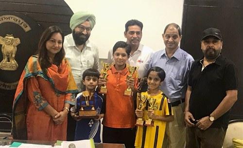 होशियारपुर की लड़कियों ने पंजाब स्टेट (सब-जुनियर) बैडमिंटन चैंपियनशिप में फहराया परचम।
