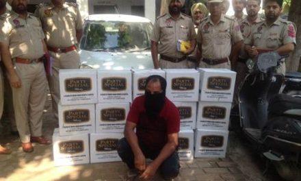 मॉडल टाउन पुलिस ने नाजायज़ शराब की 15 पेटियों समेत एक को धरा