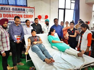 रयात बाहरा में रक्तदान शिविर का आयोजन, चेयरमैन बाहरा ने किया उद्घाटन
