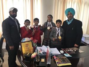 रयात बाहरा स्कूल के खिलाडिय़ों ने नेशनल कराटे चैंपियनशिप में फहराया परचम।