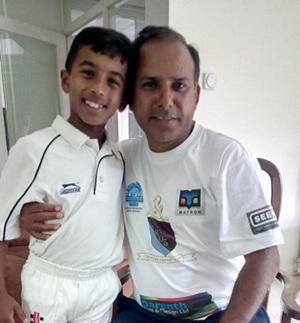 सी.एंड.बी. इंटरनैश्नल स्पोर्टस अकैडमी के क्रिकेट खिलाड़ी अखिल का यू.के. में कैंट की तरफ से काऊंटी क्रि केट में पुन : चयन