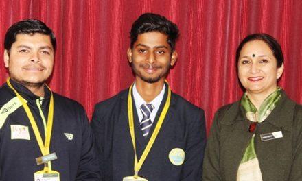जैम्स कैम्ब्रिज स्कूल के क्रिकेट ख़िलाड़ी शाश्वत ने पीसीए कैंप में लिया हिस्सा।