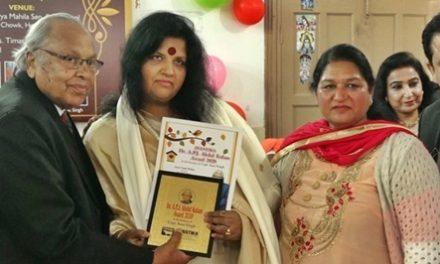 किड्स पब्लिक स्कूल की प्रिं. आरती सूद मेहता डा. ए.पी.जे. अब्दुल कलाम अवार्ड से सम्मानित