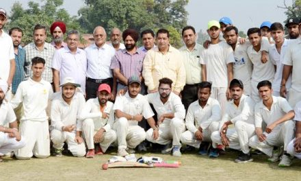 पंजाब यूनीवर्सिटी इंटर कालेज जोनल क्रिकेट टूर्नामैंट में सरकारी कालेज की शानदार जीत