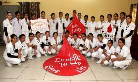 सेंट सोल्जर कालेज चब्बेवाल में 'वल्र्ड ब्लड डोनेशन डे संबंधी कार्यक्रम आयोजित
