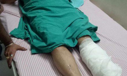 पार्षद निपुण के पिता सड़क हादसे में घायल ।