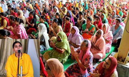 दिव्य ज्योति जाग्रति संस्थान में साध्वी रजनी भारती ने बताए मन को एकाग्र करने के मंत्र