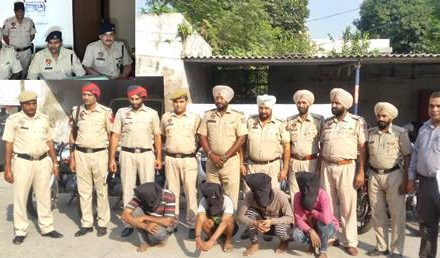 सफलता- मुकेरियां पुलिस ने चोरी की वारदातें करने वाले  4 आरोपियों को पकड़ा