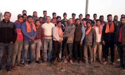 श्री भगवान परशुराम सैना एवं हिन्दू संघ की बैठक आशुतोष की अध्यक्षता में हुई