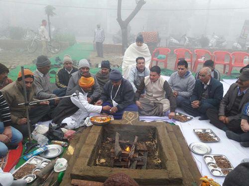 श्री गोविंद गऊधाम गऊशाला ने नए साल के शुभारम्भ पर विश्व शांति के लिए हवनयज्ञ करवाया।