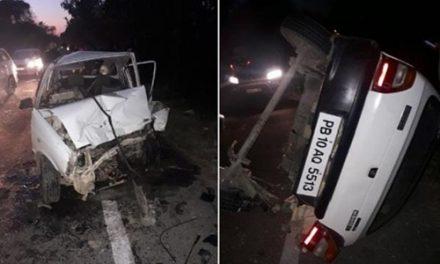 कारों की टक्कर में 3 लोग घायल