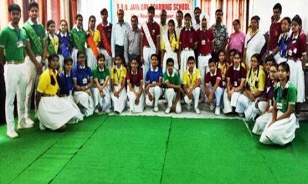 एसएवी जैन डे बोर्डिंग स्कूल में इन्वैस्टिचर सैरामनी आयोजित