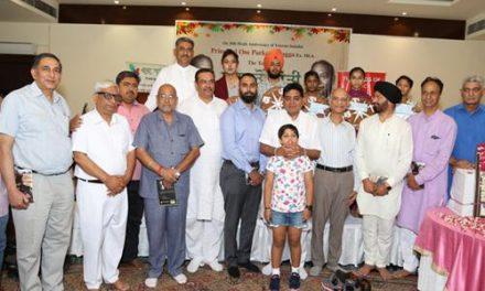 प्रिं. ओम प्रकाश बग्गा की पुण्य तिथि पर सेवा से शांति विषय पर सैमीनार आयोजित