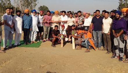स्पोर्ट्स क्लब हरसीपिंड द्वारा  वार्षिक  क्रिकेट टूर्नामैंट  शुरू