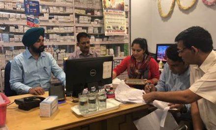 मिशन तंदरुस्त पंजाब' के तहित मैडीकल स्टोरों की हुई जांच