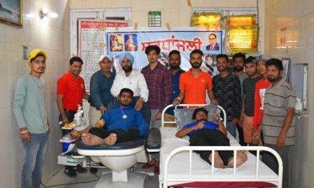 रक्तदानी भाई स्व. जस्सा की याद में लगाया कैंप, युवाओं ने बढ़चढ़ कर किया रक्तदान
