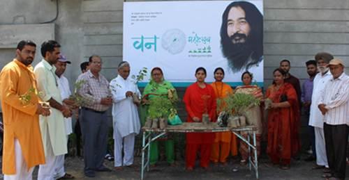 दिव्य ज्योति जाग्रति संस्थान ने संरक्षण प्रकल्प दौरान वन महोत्सव का किया आयोजन ।