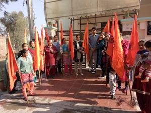 राम मंदिर निर्माण के लिए हर हिंदु लहराए भगवा ध्वज- पार्षद तलवाड़