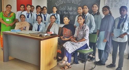 रयात बाहरा स्कूल विंग में दांतों के निरीक्षण हेतू शिविर का आयोजन