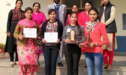 रयात बाहरा बीएड कालेज के छात्रों ने पीयु द्वारा करवाए  मुकाबलों में किया शानदार प्रदर्शन ।