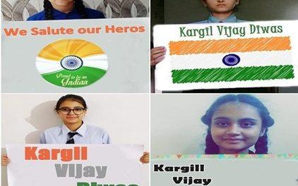 सेंट सोल्जर छात्रों ने दी कारगिल शहीदों को श्रद्धांजलि :