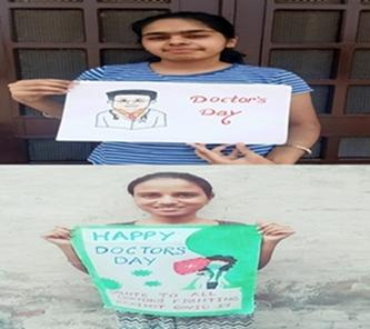 सेंट सोल्जर के छात्रों ने डाक्टरों को किया सलाम :