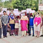 सरकारी स्कूलों में दाखिला बढ़ाने के लिए रैली निकाली